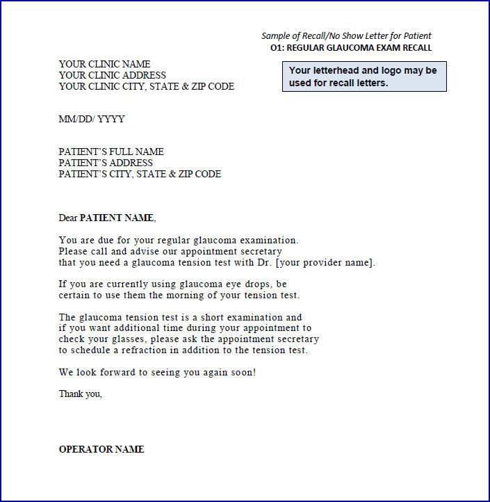 sample recall letters